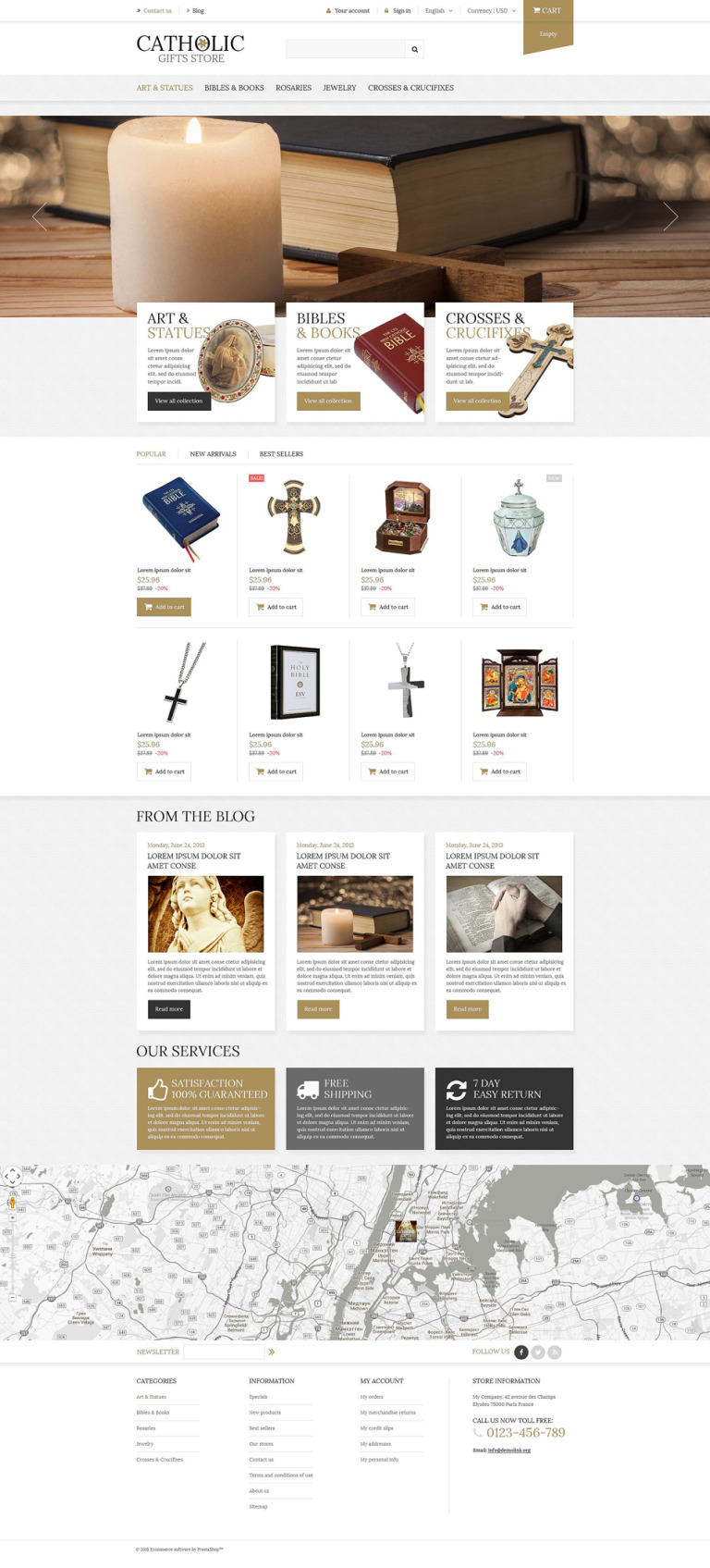 Religious Items PrestaShop Theme New Screenshots BIG