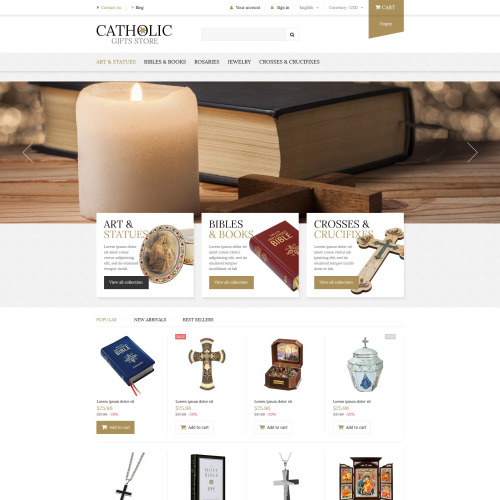 Catholic Gifts Store - PrestaShop Template based on Bootstrap