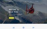 Responsive Blue Hill - Flight School Multipage Creative HTML Web Sitesi Şablonu