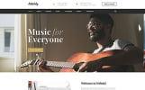 Responsive Website template over Muziekschool