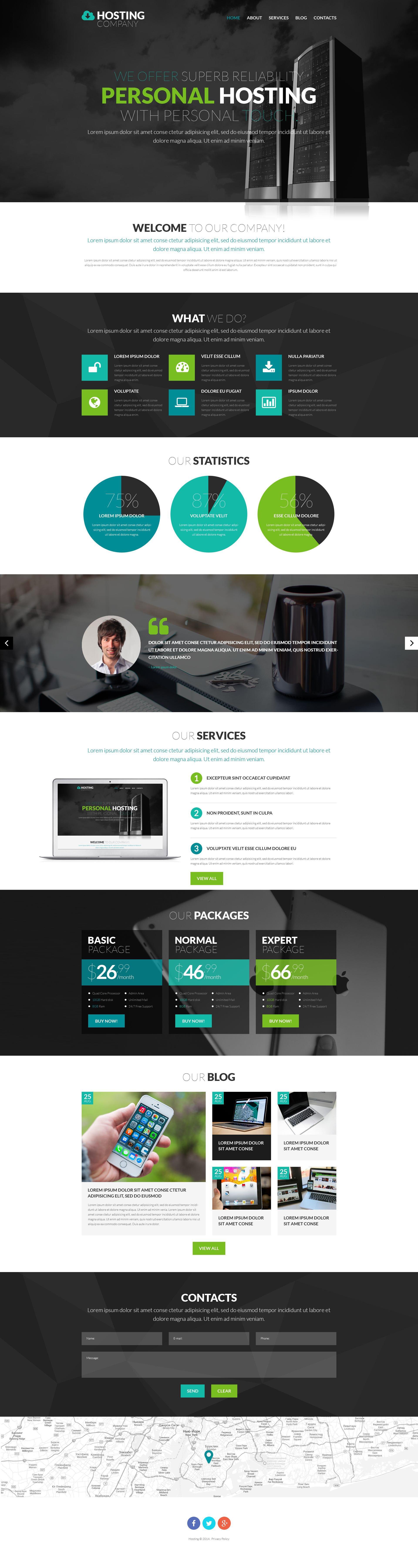 Responsivt Hosting Provider WordPress-tema #53367
