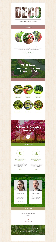 Responzivní Newsletter šablona na téma Design exteriéru #53341