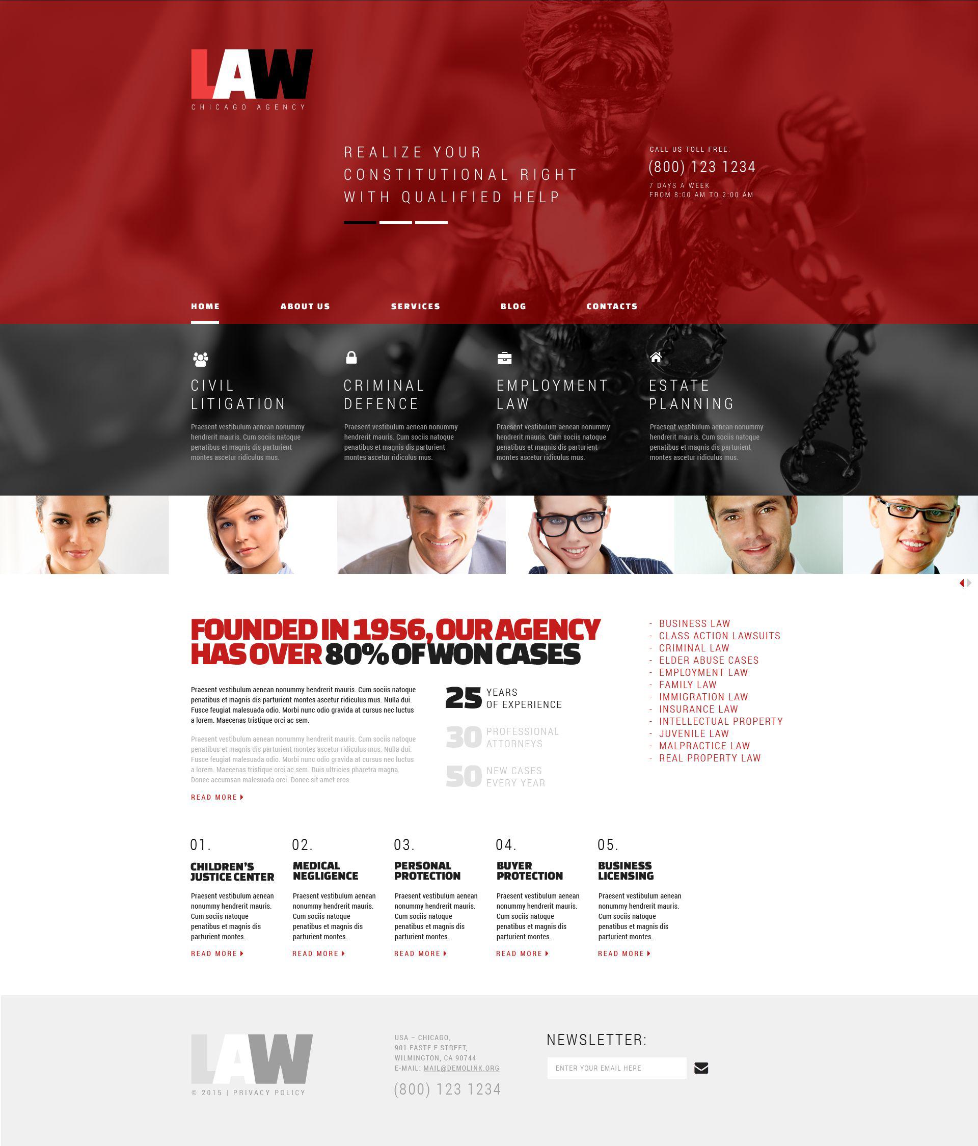 """Responzivní WordPress motiv """"Law"""" #53371"""