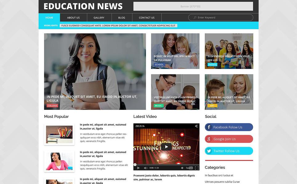 Responzivní WordPress motiv na téma Vzdělání New Screenshots BIG