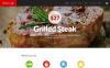 Reszponzív Cafe and Restaurant WordPress sablon New Screenshots BIG