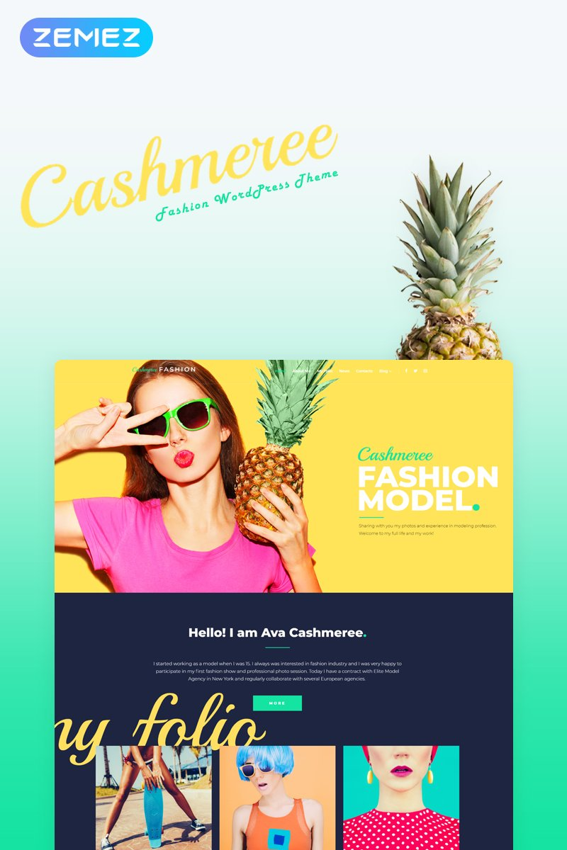 Reszponzív Fashion WordPress Theme WordPress sablon 53374 - képernyőkép