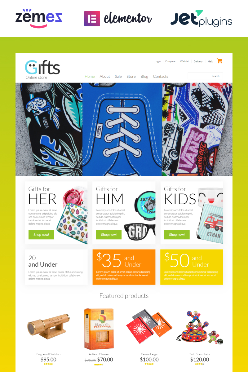 Reszponzív Gifts Shop WooCommerce sablon 53330