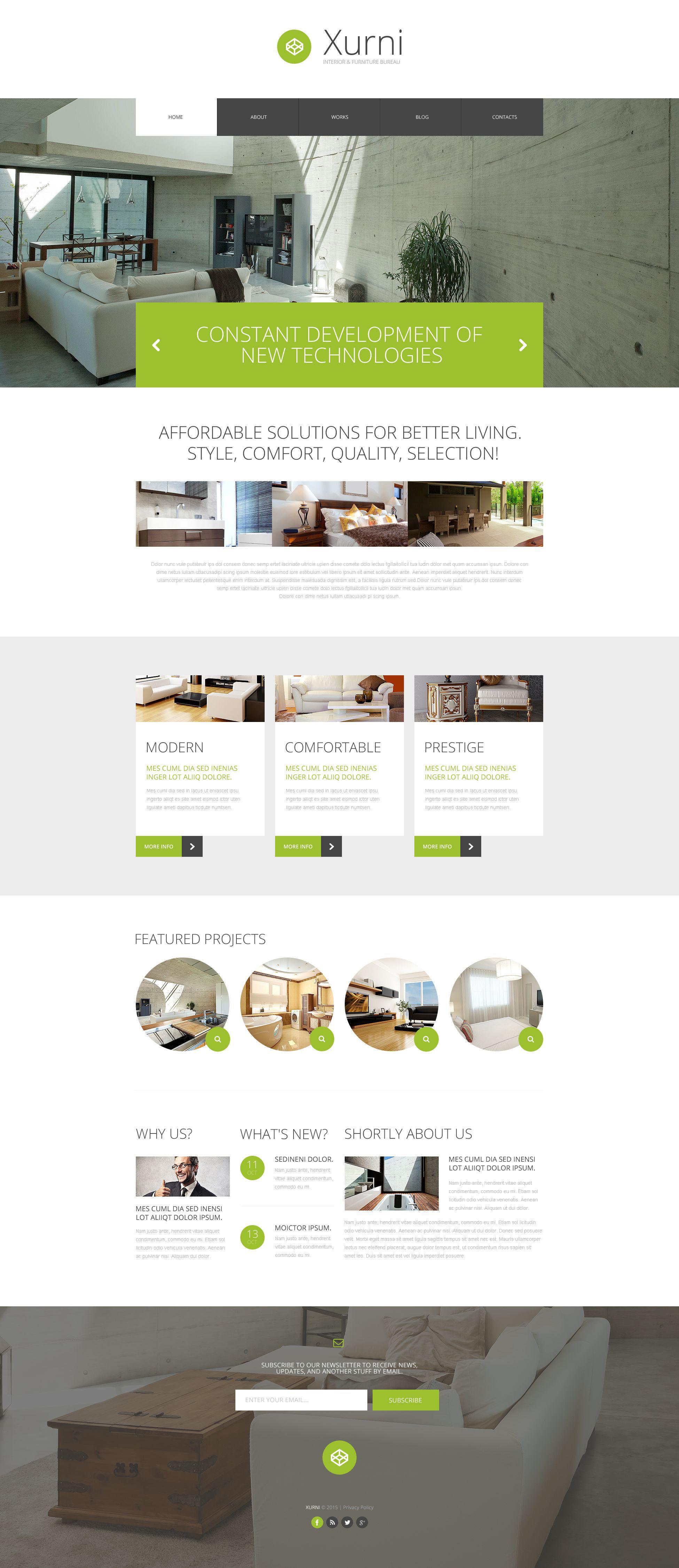 Reszponzív Interior  Furniture Store WordPress sablon 53391 - képernyőkép