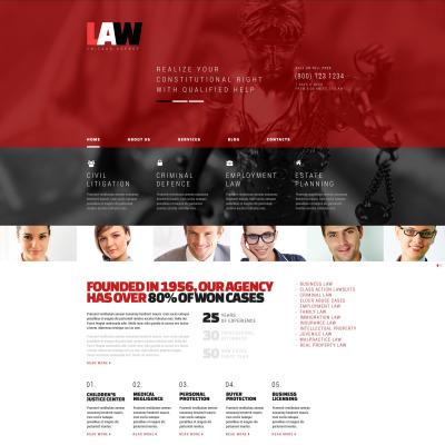 Law Firm Responsive WordPress Sablon