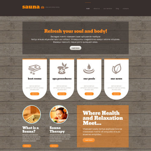 Sauna - WordPress Template based on Bootstrap