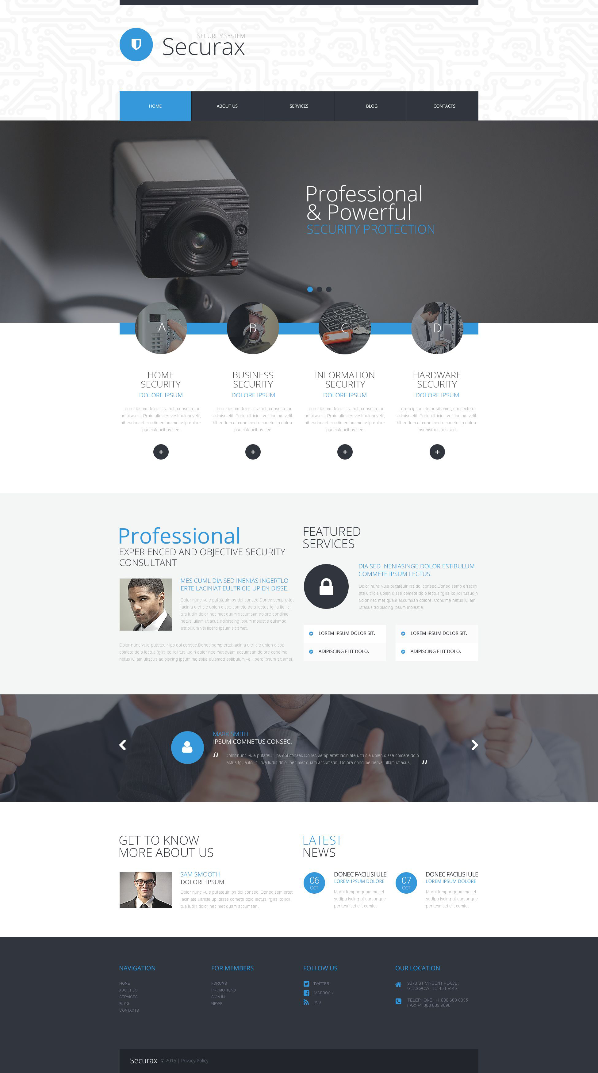 """""""Security Systems"""" Responsive WordPress thema №53386"""