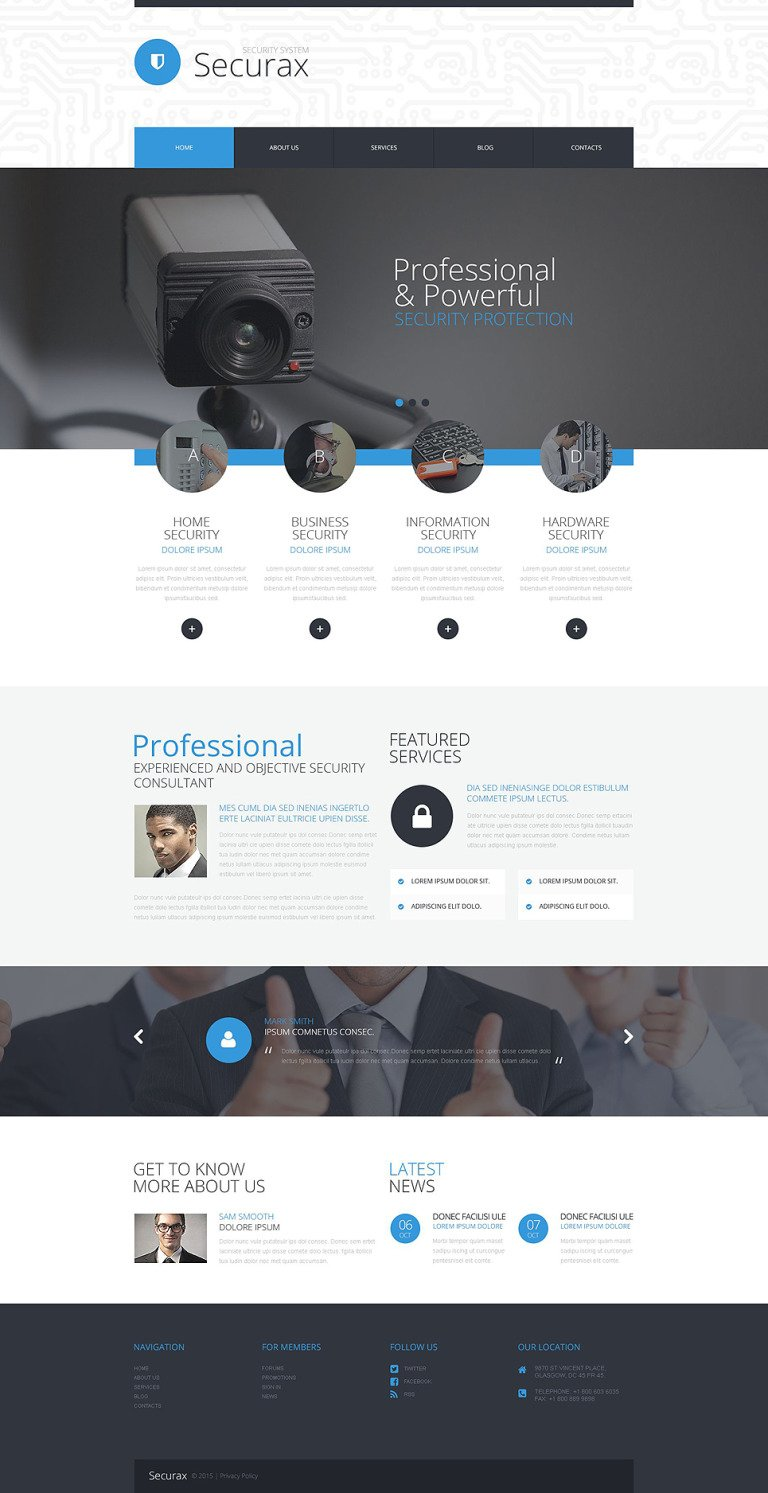 Security Systems WordPress Theme New Screenshots BIG
