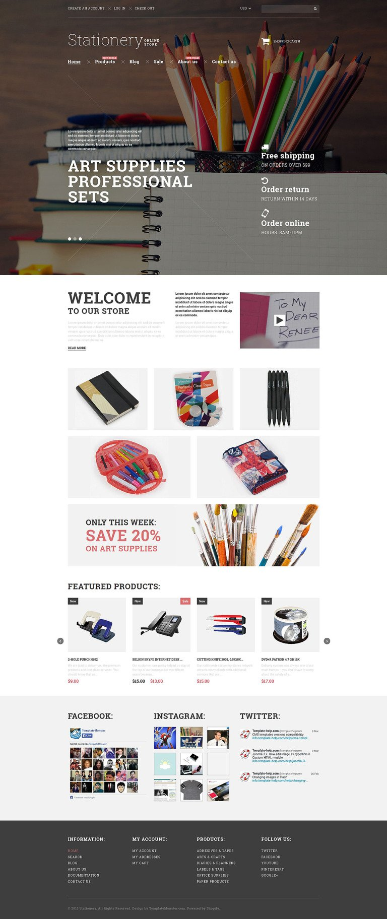 Stationery Goods Shopify Theme New Screenshots BIG