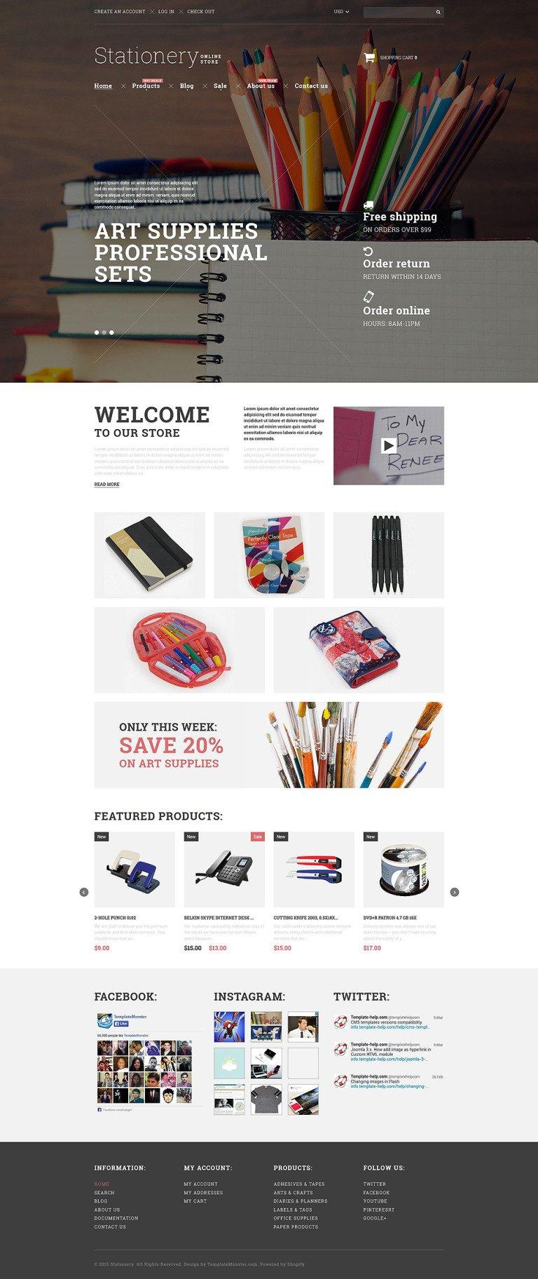 Stationery Goods Shopify Theme New Screenshots BIG