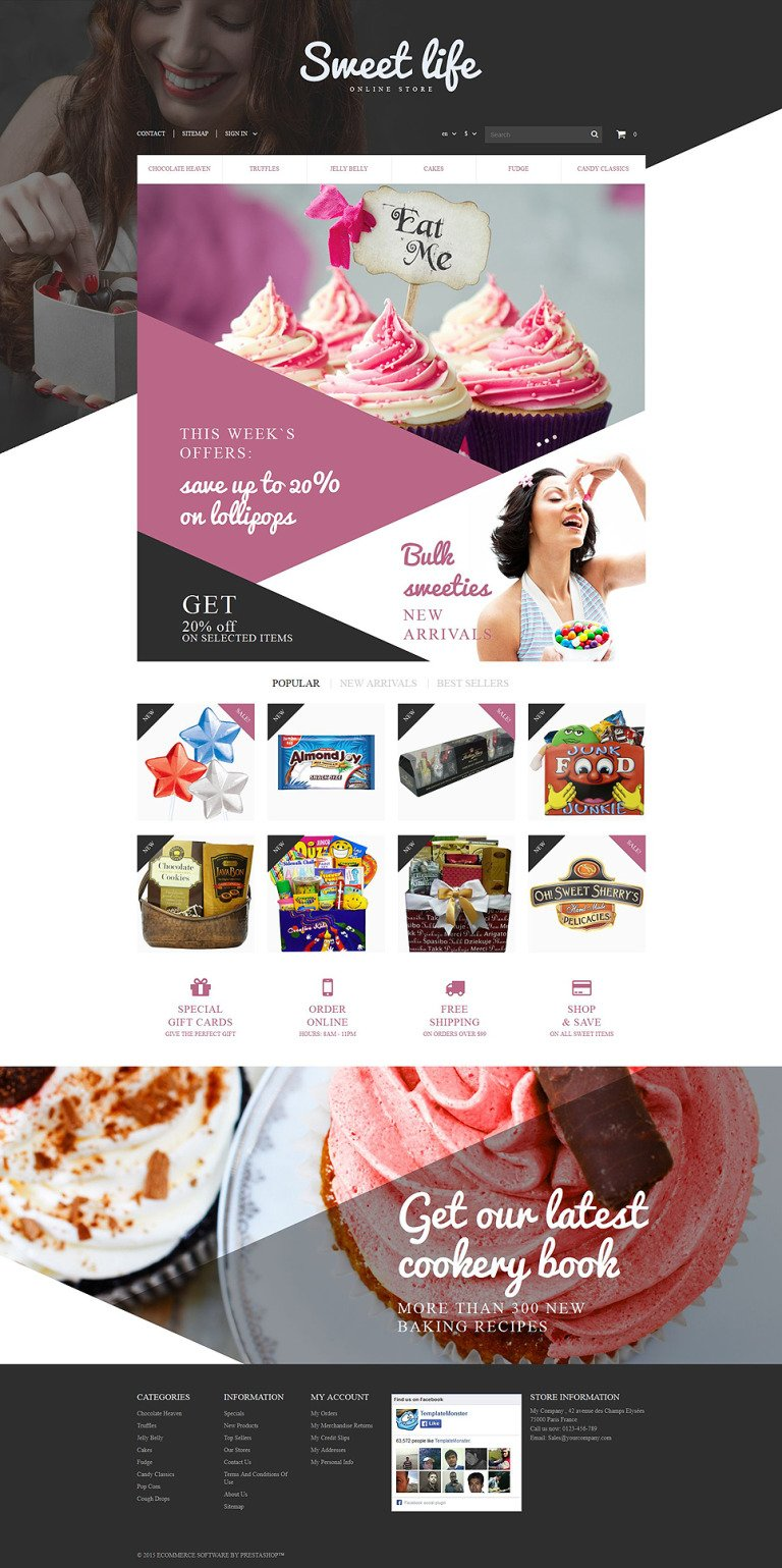 Sweets Shop PrestaShop Theme New Screenshots BIG
