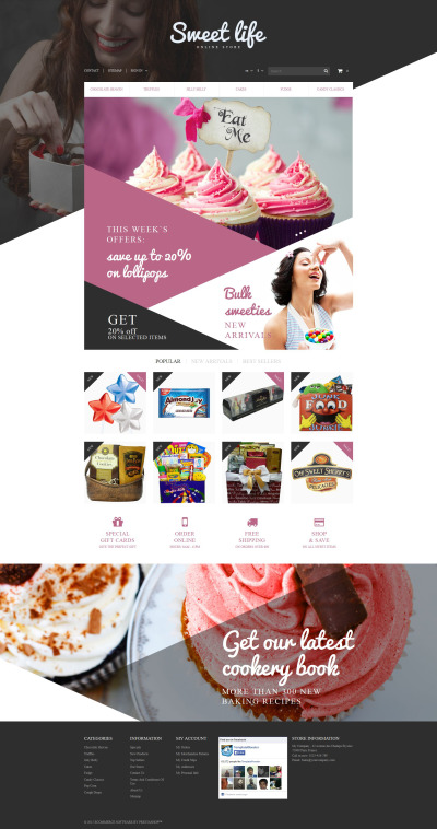 Sweets Shop PrestaShop Theme
