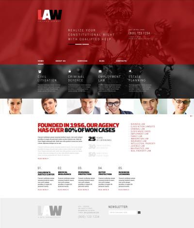 Responsive Tema De WordPress #53371 para Sitio de  para Sitio de Bufetes de abogados