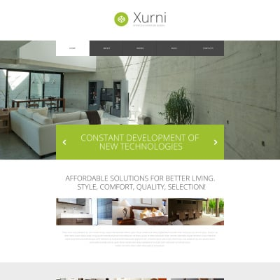 Tema de WordPress #53391 para Sitio de Interior y Muebles