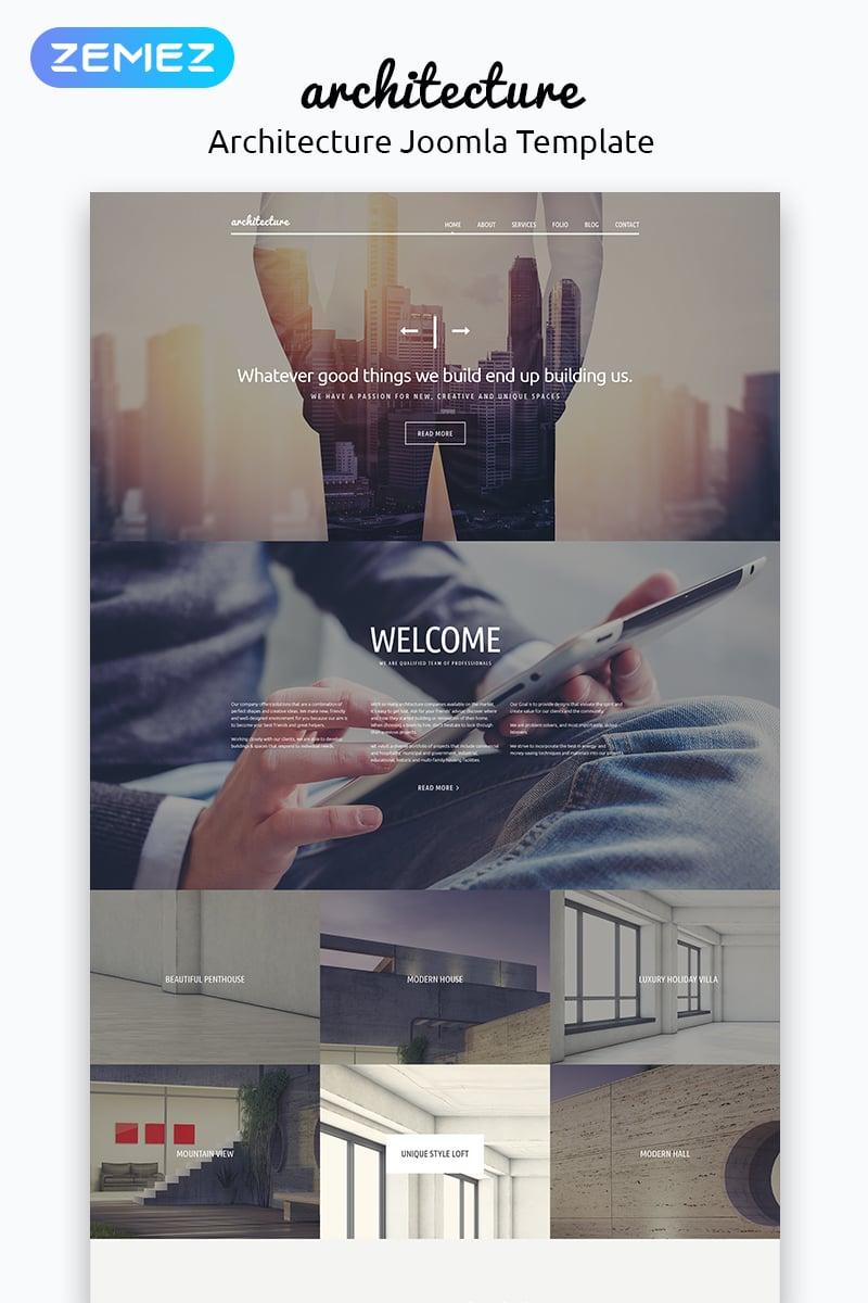 """Tema Joomla Responsive #53361 """"Architettura"""""""