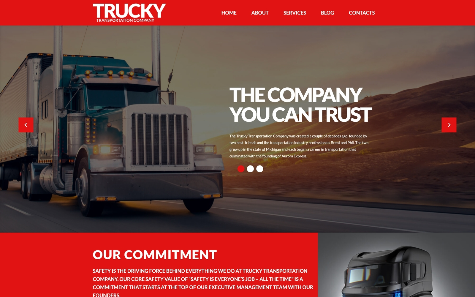 Trucky - Transportation & Logistics Responsive Tema WordPress №53388