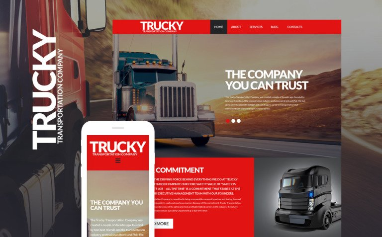 Trucky - Transportation & Logistics Responsive WordPress Theme New Screenshots BIG