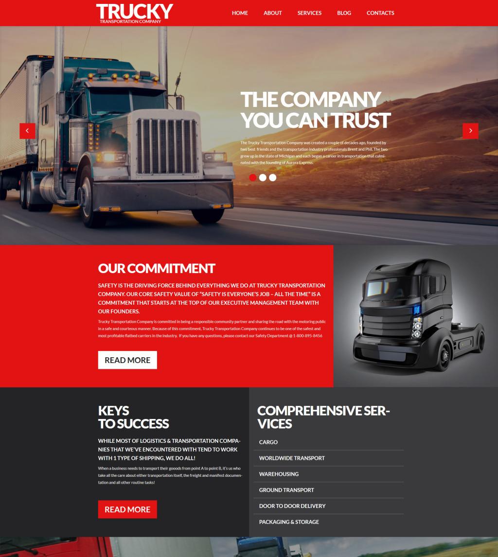 Trucky - Transportation & Logistics Responsive WordPress Theme