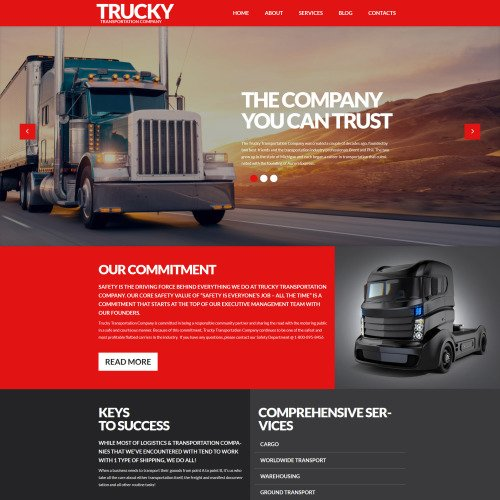 Trucky Transportation & Logistics - Responsive WordPress Template