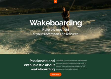 Wakeboarding Responsive