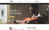 """Website Vorlage namens """"Musikausbildung"""""""