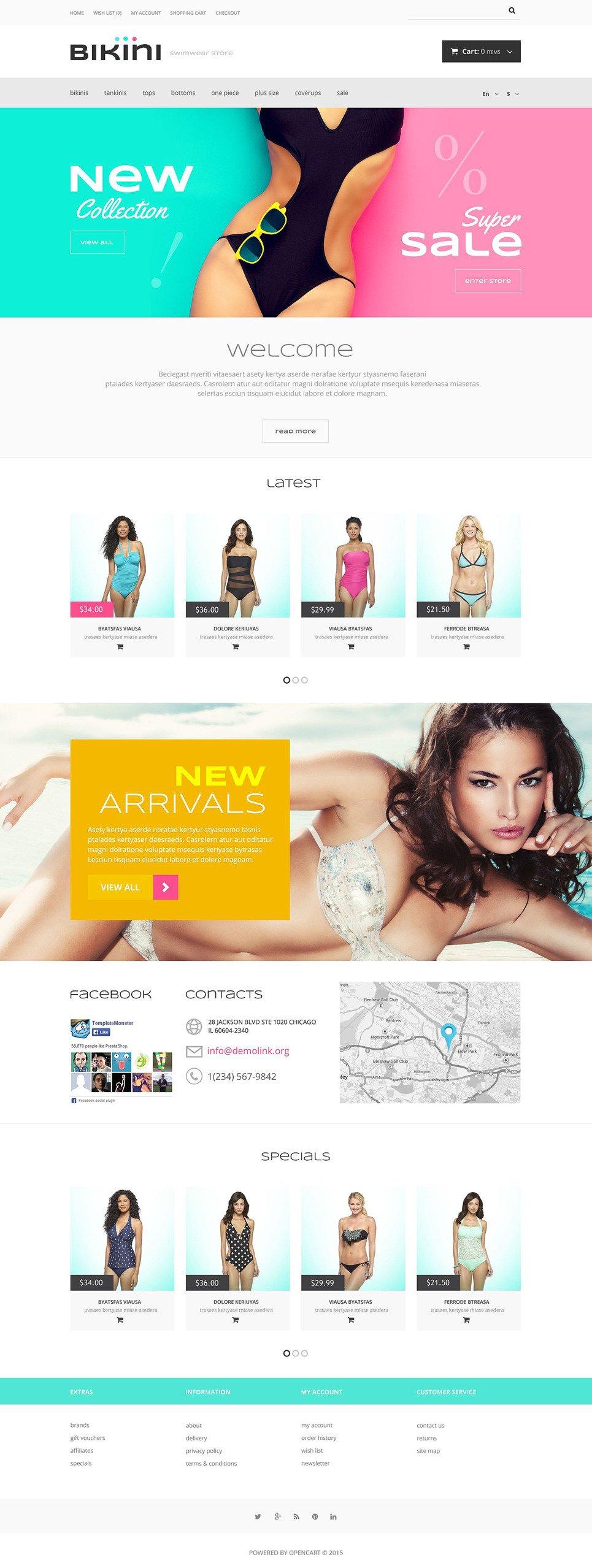 Women Swimwear Store OpenCart Template New Screenshots BIG