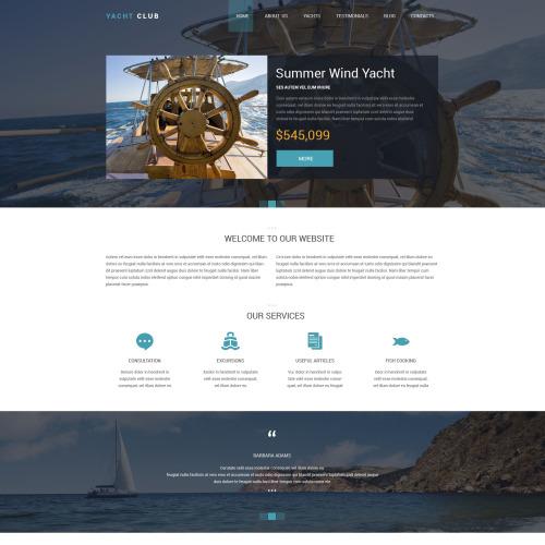 Yacht Club - Responsive Drupal Template
