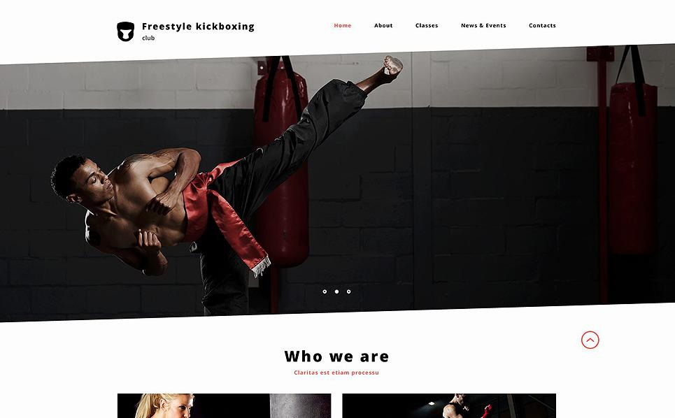 Responzivní Šablona webových stránek na téma Boxování New Screenshots BIG