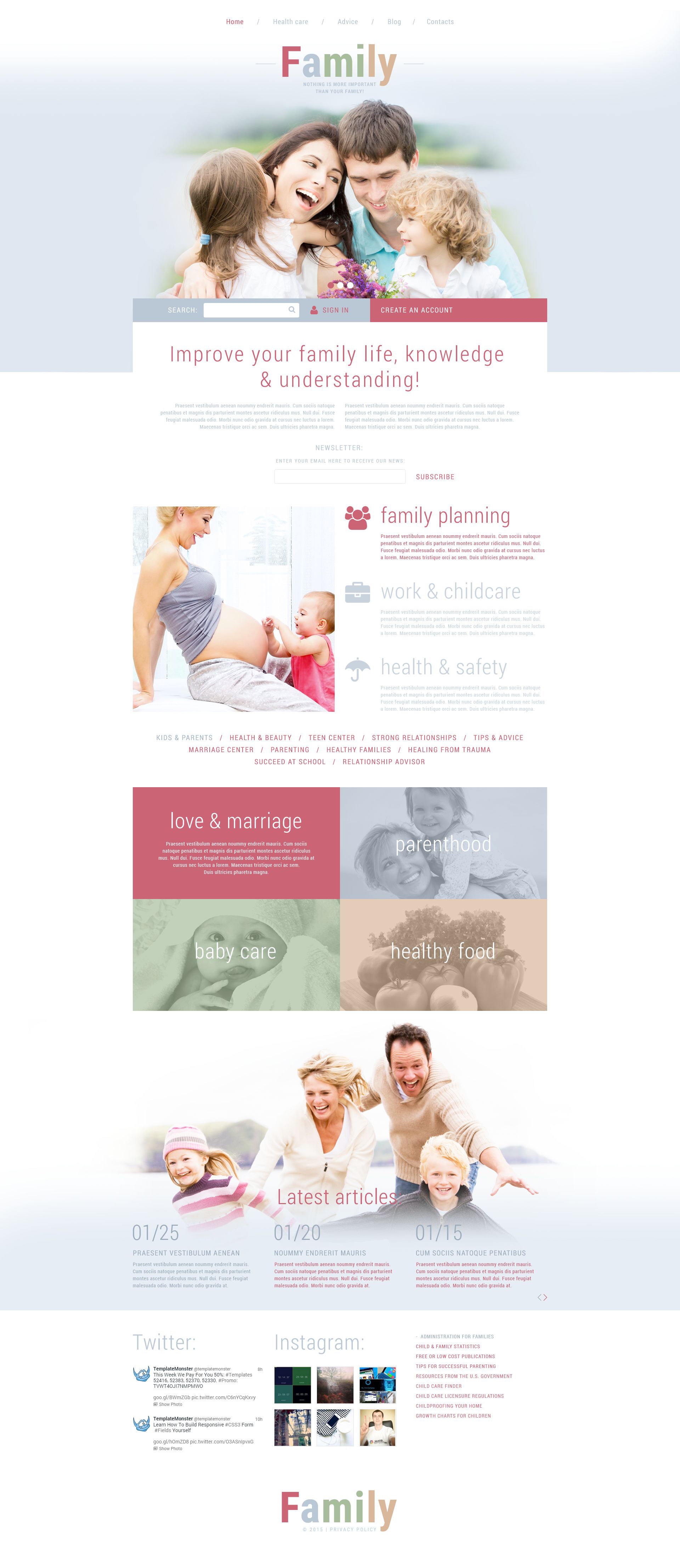 The Family Life Portal Joomla Design 53402, one of the best Joomla templates of its kind (family, most popular), also known as family life portal Joomla template, site Joomla template, harmony Joomla template, hearth Joomla template, home Joomla template, children Joomla template, baby Joomla template, child Joomla template, mother Joomla template, father Joomla template, grandparents Joomla template, relatives Joomla template, relationship Joomla template, close care Joomla template, happiness Joomla template, education Joomla template, youth Joomla template, health Joomla template, kids Joomla template, fun Joomla template, advices Joomla template, events Joomla template, entertainment Joomla template, information Joomla template, support Joomla template, directory Joomla template, psychology Joomla template, services Joomla template, culture Joomla template, tips and related with family life portal, site, harmony, hearth, home, children, baby, child, mother, father, grandparents, relatives, relationship, close care, happiness, education, youth, health, kids, fun, advices, events, entertainment, information, support, directory, psychology, services, culture, tips, etc.