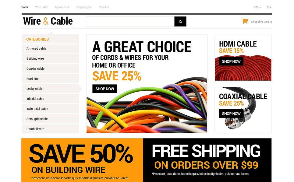 Responzivní OpenCart šablona na téma Prodejna elektroniky New Screenshots BIG