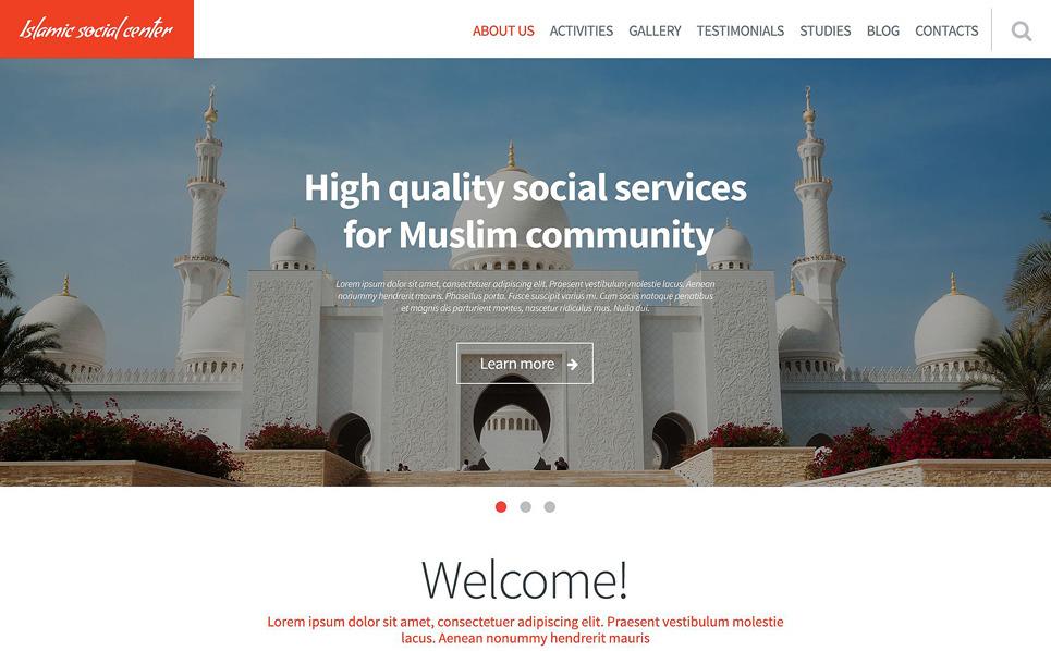 Reszponzív Iszlám közösségi központ Weboldal sablon New Screenshots BIG