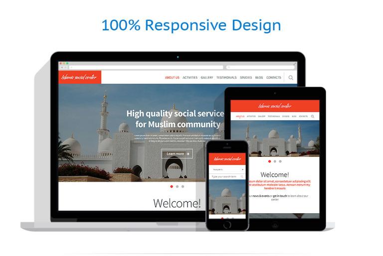islamic center website template