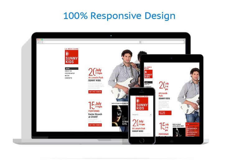 Music Band Responsive Website Template #53410