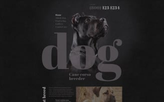 Dog Breeder Website Template