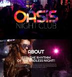 Night Club Website  Template 53412