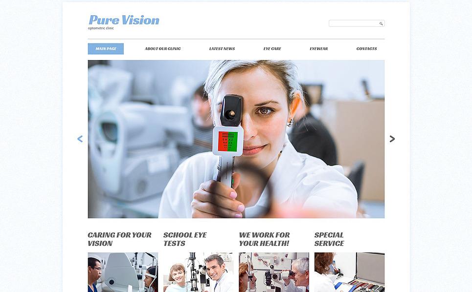 Reszponzív Optometristák Weboldal sablon New Screenshots BIG