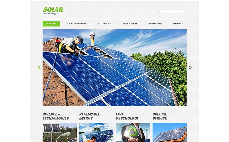 Адаптивний Шаблон сайту на тему сонячна енергія New Screenshots BIG