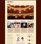 Entertainment Website  Template 53416