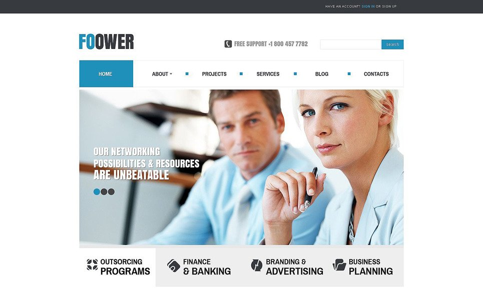 Template Joomla Flexível para Sites de Business & Services №53426 New Screenshots BIG