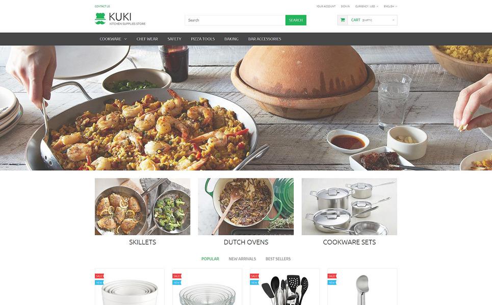 """PrestaShop Theme namens """"Küchenzubehör Online-Shop"""" New Screenshots BIG"""