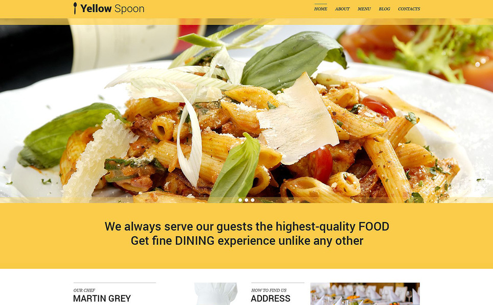 Responsives WordPress Theme für Cafe und Restaurant  New Screenshots BIG