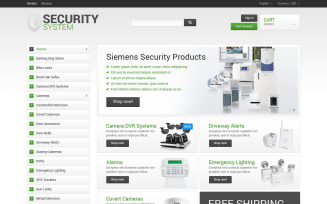 Security System PrestaShop Theme