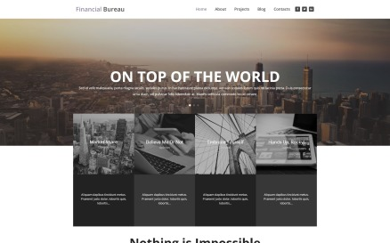 Financial Bureau - Finance Multipurpose Modern Elementor WordPress Theme
