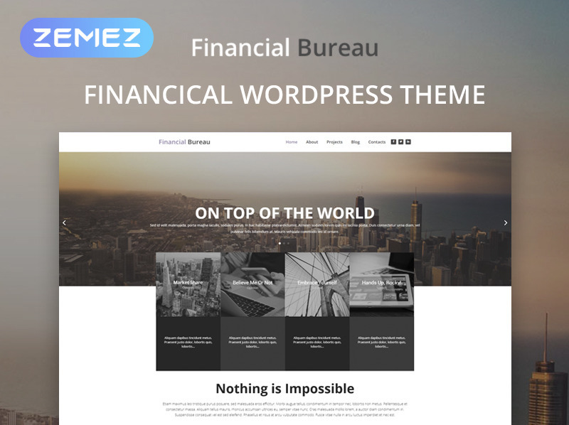 Reszponzív Pénzügyi tanácsadók WordPress sablon New Screenshots BIG