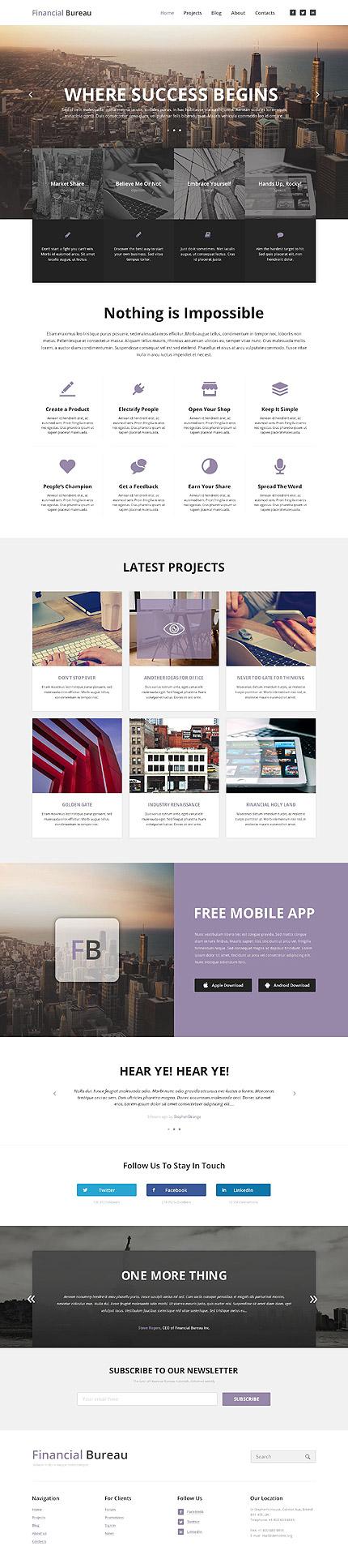 WordPress Theme/Template 53444 Main Page Screenshot