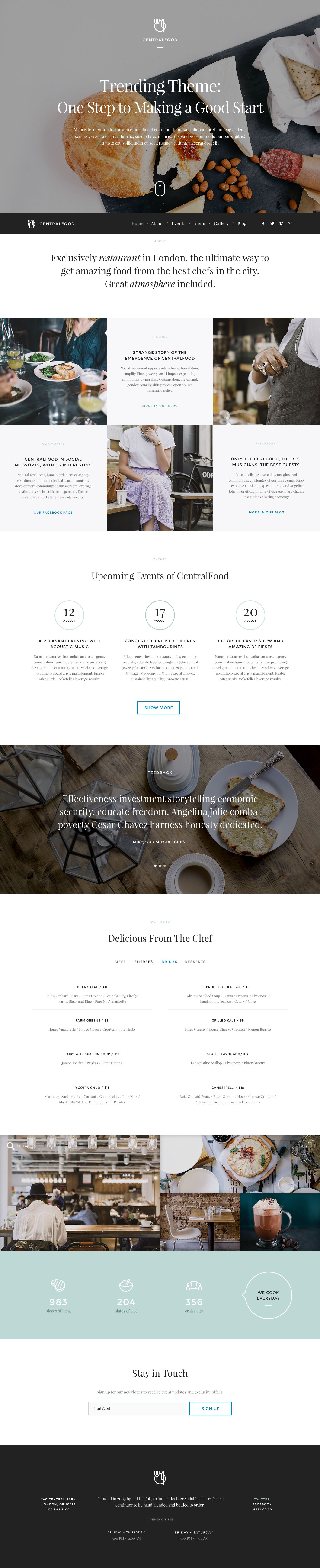 The Central Food Restaurant WordPress Design 53445, one of the best WordPress themes of its kind (cafe and restaurant, most popular), also known as central food restaurant WordPress template, cafe WordPress template, food WordPress template, meal WordPress template, cuisine WordPress template, drink WordPress template, menu WordPress template, waiters WordPress template, dish WordPress template, wine WordPress template, taste WordPress template, tasty WordPress template, flavor WordPress template, reservation WordPress template, specials WordPress template, recipe WordPress template, launch WordPress template, dinner WordPress template, testimonials WordPress template, offers WordPress template, kitchen WordPress template, cookbook WordPress template, vegetarian WordPress template, cocktail WordPress template, beverage WordPress template, specials WordPress template, gifts WordPress template, bonuses WordPress template, discount WordPress template, patrons WordPress template, reservation and related with central food restaurant, cafe, food, meal, cuisine, drink, menu, waiters, dish, wine, taste, tasty, flavor, reservation, specials, recipe, launch, dinner, testimonials, offers, kitchen, cookbook, vegetarian, cocktail, beverage, specials, gifts, bonuses, discount, patrons, reservation, etc.
